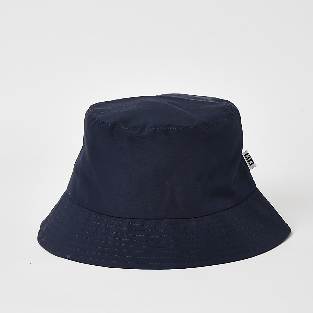 Navy RI tab bucket hat