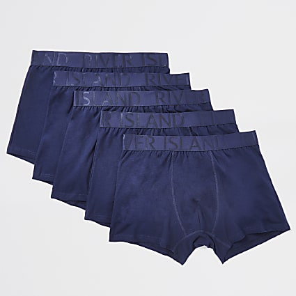 Navy RI trunks 5 pack
