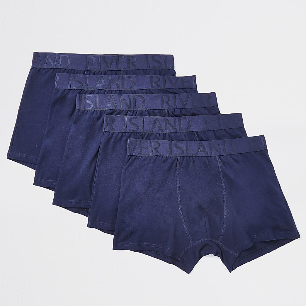 Navy RI trunks 5 pack