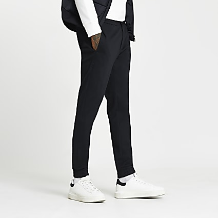 Navy skinny fit joggers