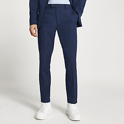 Navy skinny fit suit trouser
