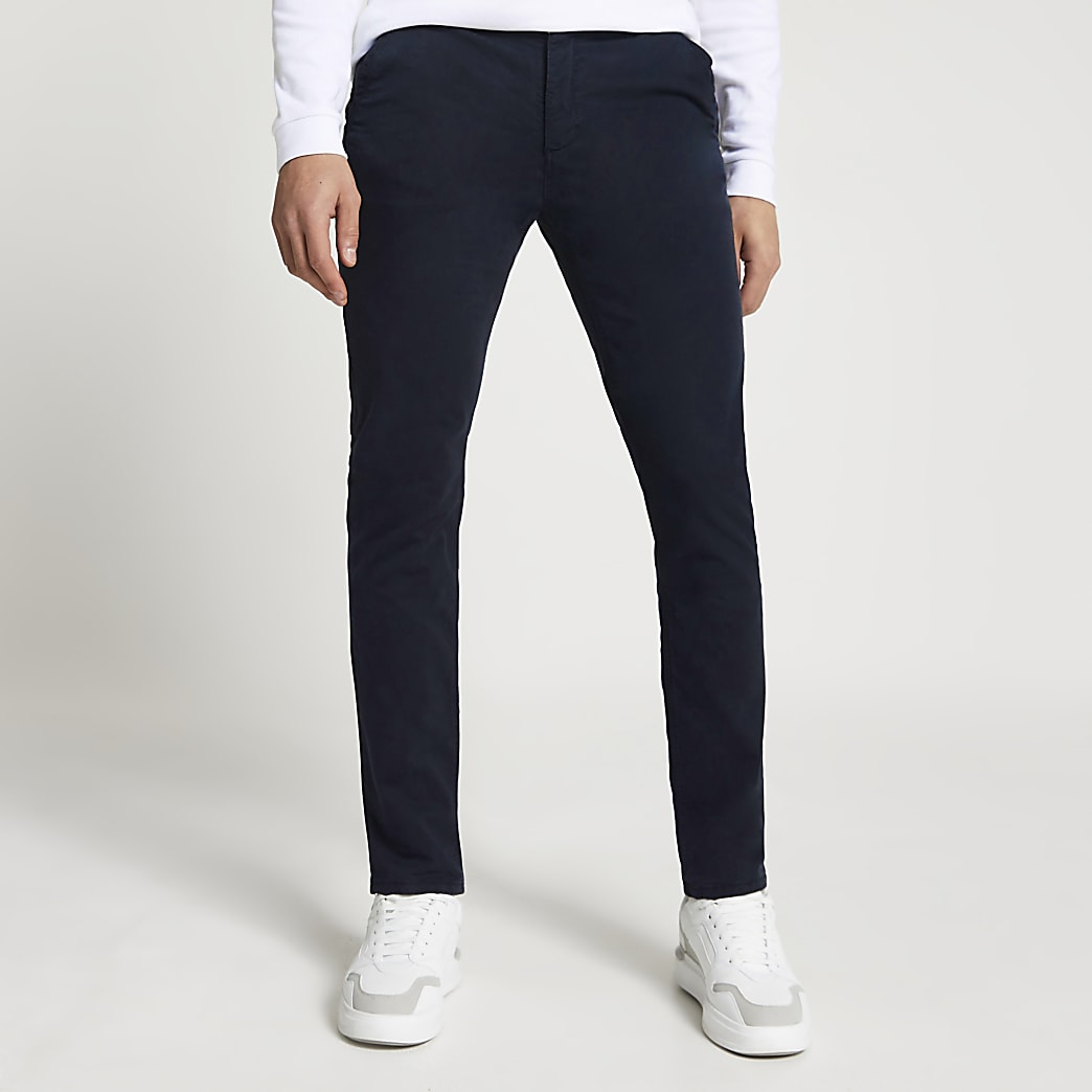Navy slim fit chino