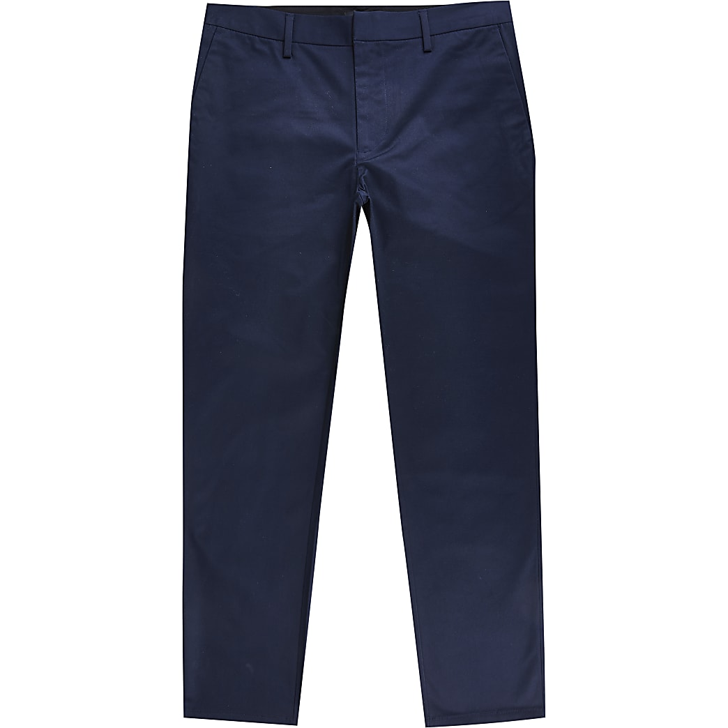 Navy slim fit chinos