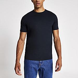 Marineblaues Slim Fit T-Shirt