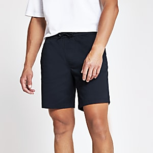 Navy slim fit short