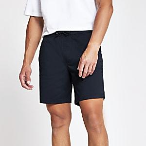 Navy slim fit short
