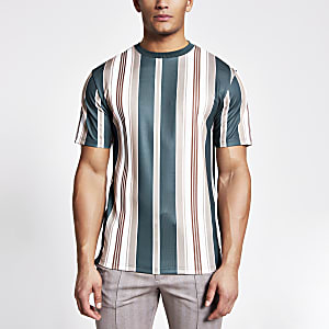 Navy stripe short sleeve T-shirt