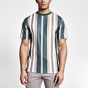 Gestreiftes T-Shirt in Marineblau