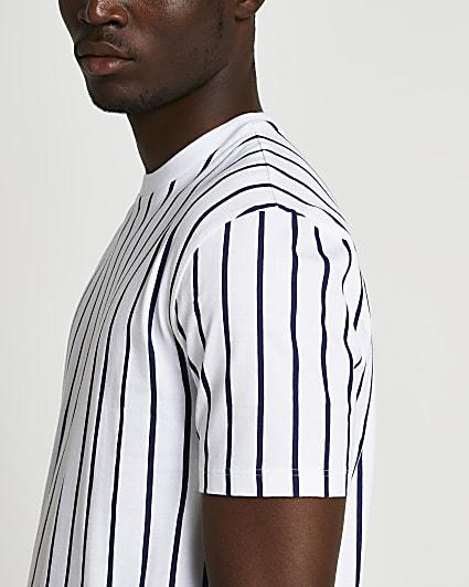 Navy stripe slim fit t-shirt