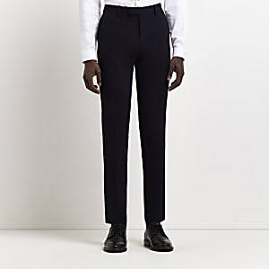 Navy super skinny suit trousers
