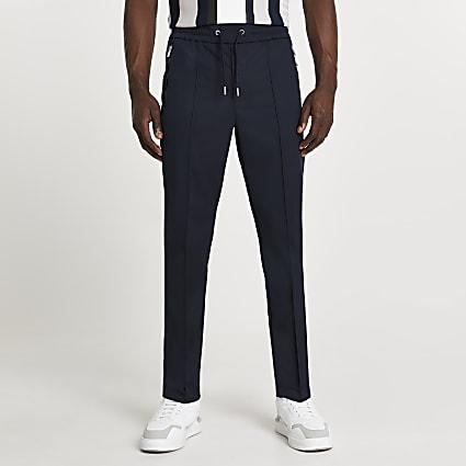 Navy zip pocket joggers