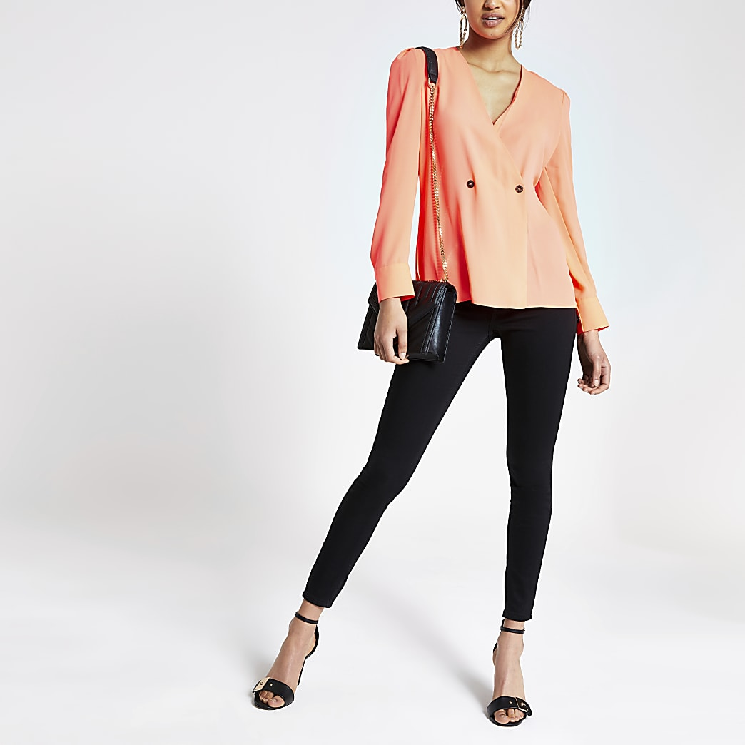 Neonroze double-breasted blouse