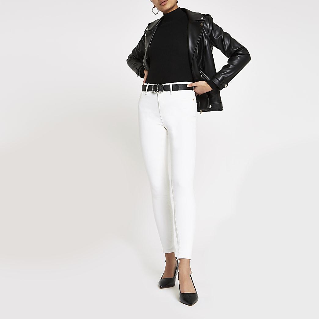 Amelie – Jean super skinny blanc cassé
