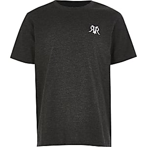 Older boys Grey - Dark Marl RVR Multibuy tee