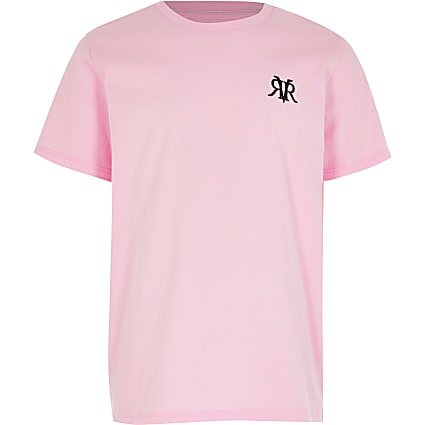 Older Boys Pink - Light RVR Multibuy T-shirt