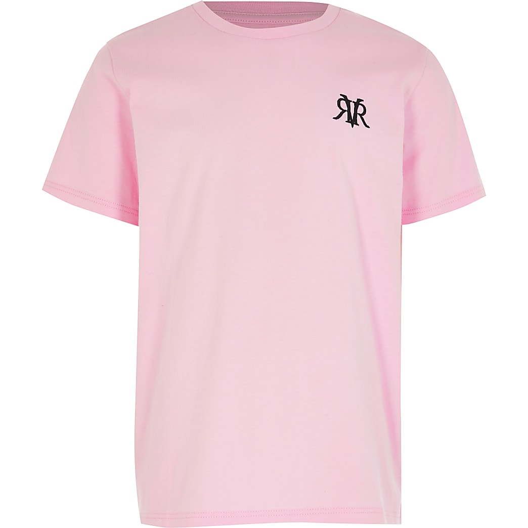 Older Boys Pink - Light RVR Multibuy T-shirt