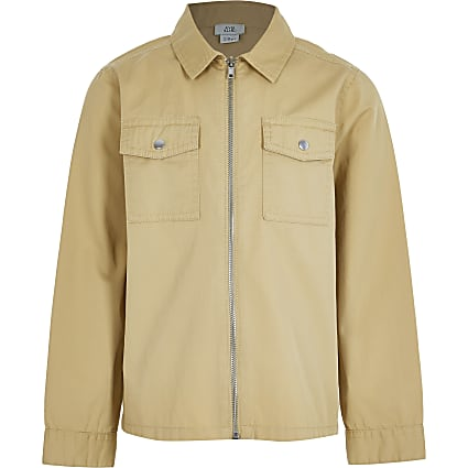 Older boys stone zip through overshirt