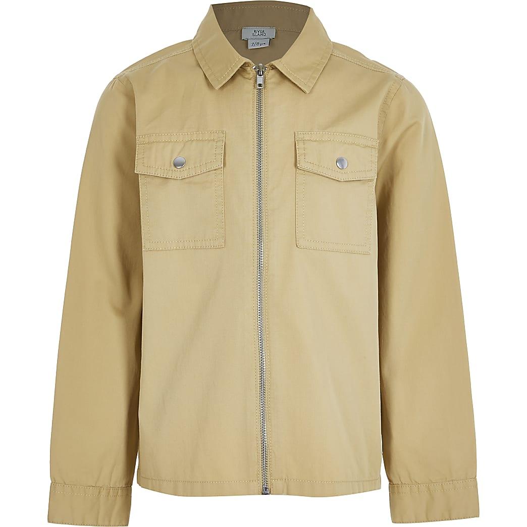 Older boys stone zip through overshirt