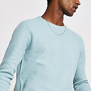 Only and Sons  – Sweat en maille bleu vif