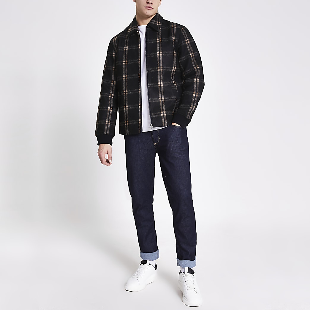 Only and Sons - Jacke mit Caromuster in Grau