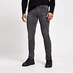 Onlyand Sons- Grijze slim-fit jeans