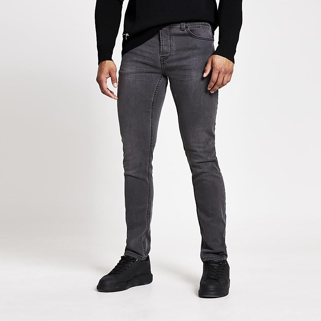 Only and Sons – Graue Slim Fit Jeans