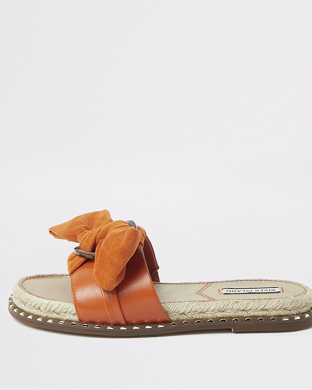 Orange espadrille bow sandal