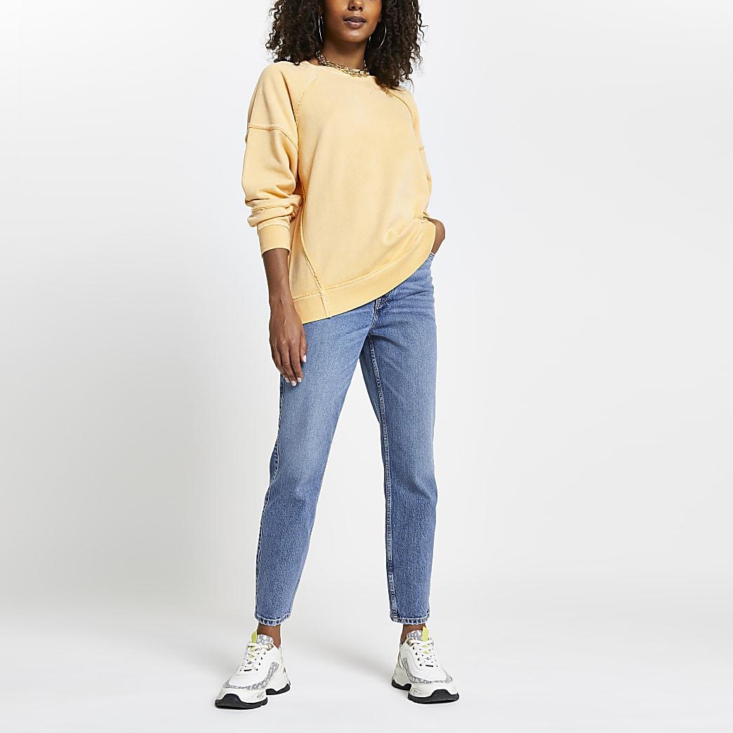 Orange 'Luxe Couture' long sleeve sweatshirt
