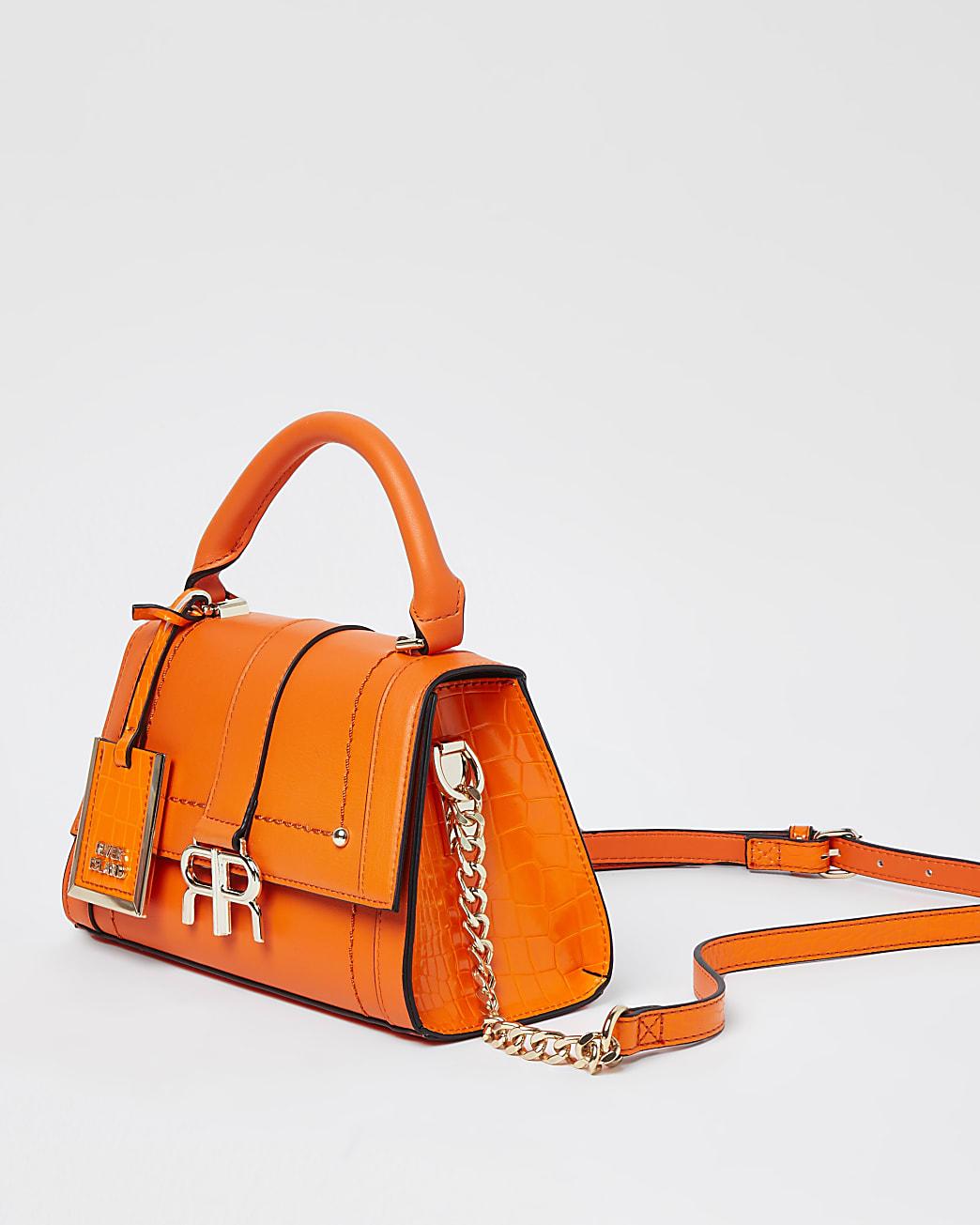 Orange mini tote bag
