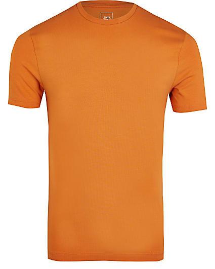 Orange muscle fit t-shirt