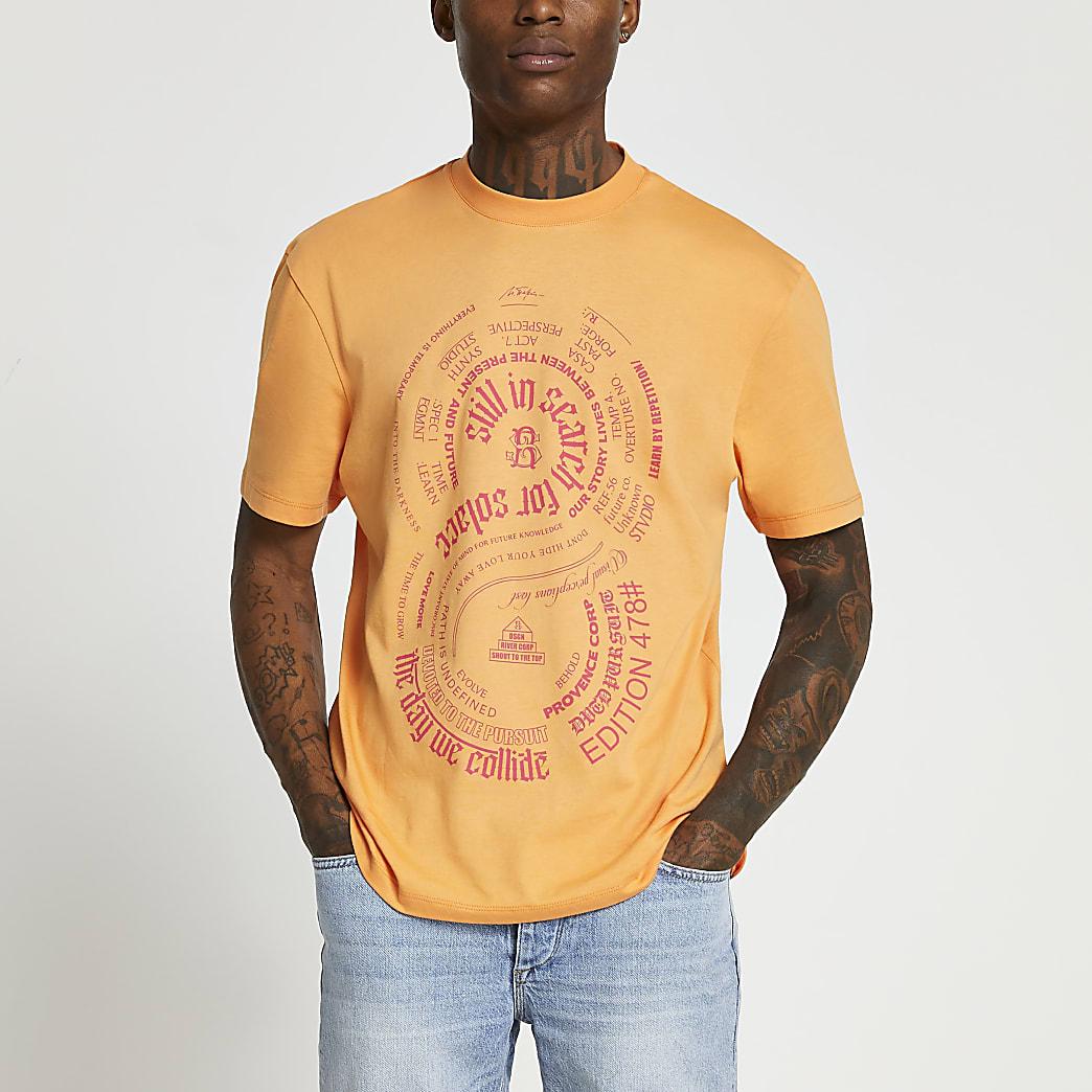 Orange neon graphic t-shirt