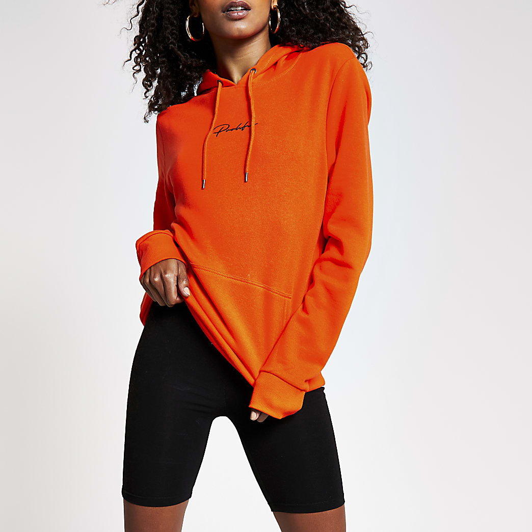 Orange prolific hoodie