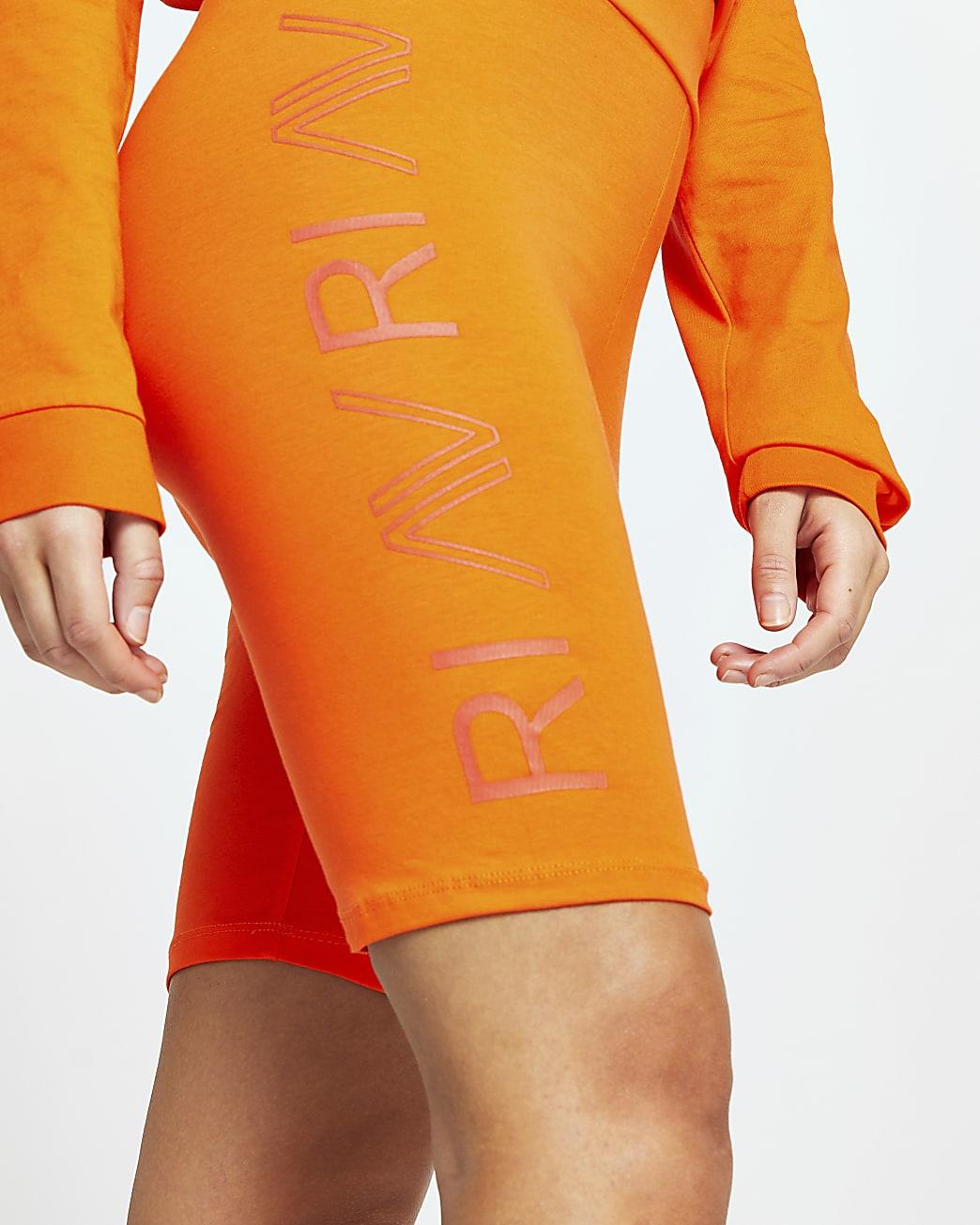 Orange RI Active cycling shorts