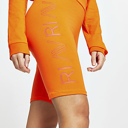Orange RI Active cycling shorts