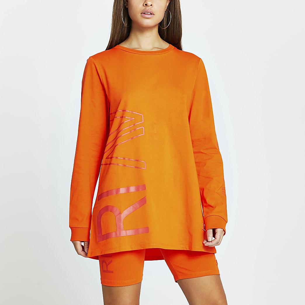 Orange RI Active long sleeve top