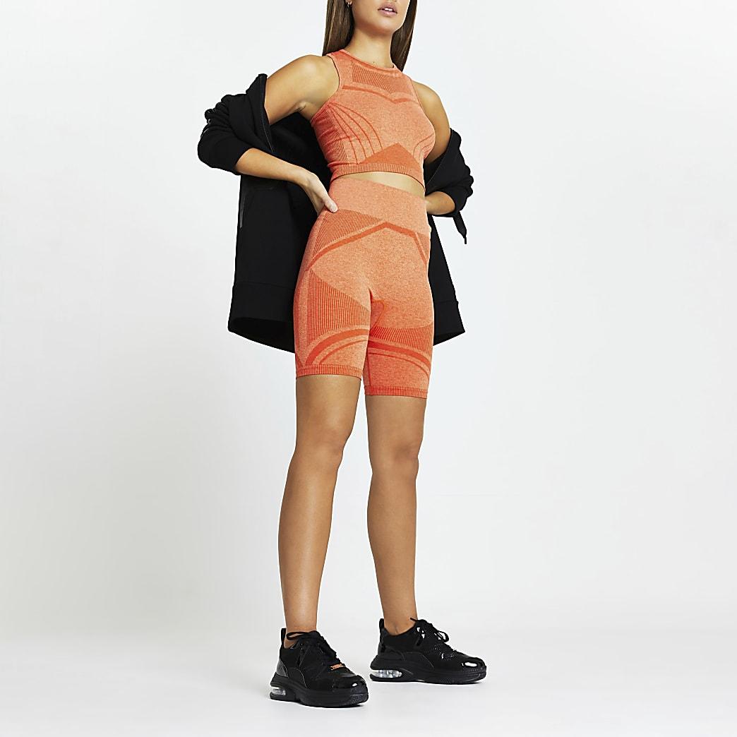 Orange RI Active seamless cycling shorts