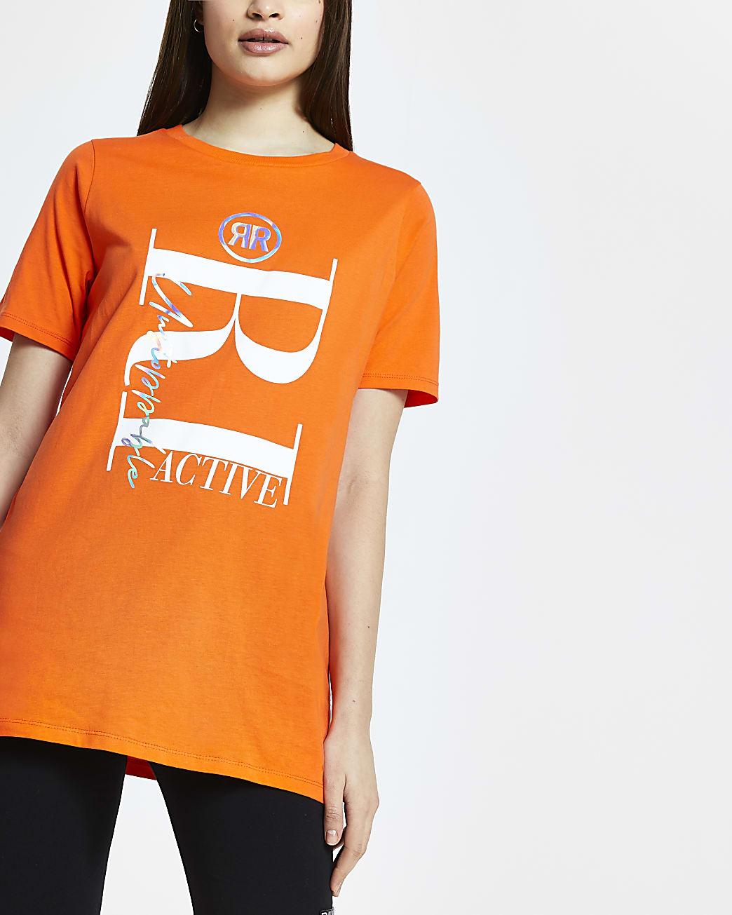 Orange RI Active short sleeve t-shirt