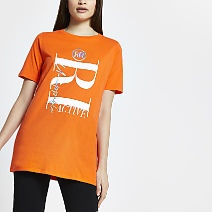 Orange RI Active short sleeve t-shirt
