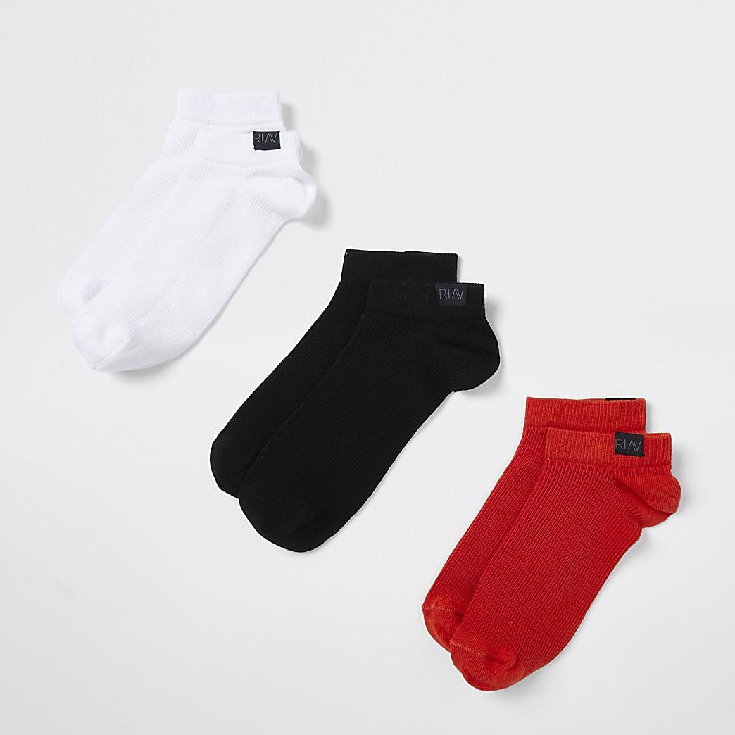 Orange RI Active trainer socks 3 pack