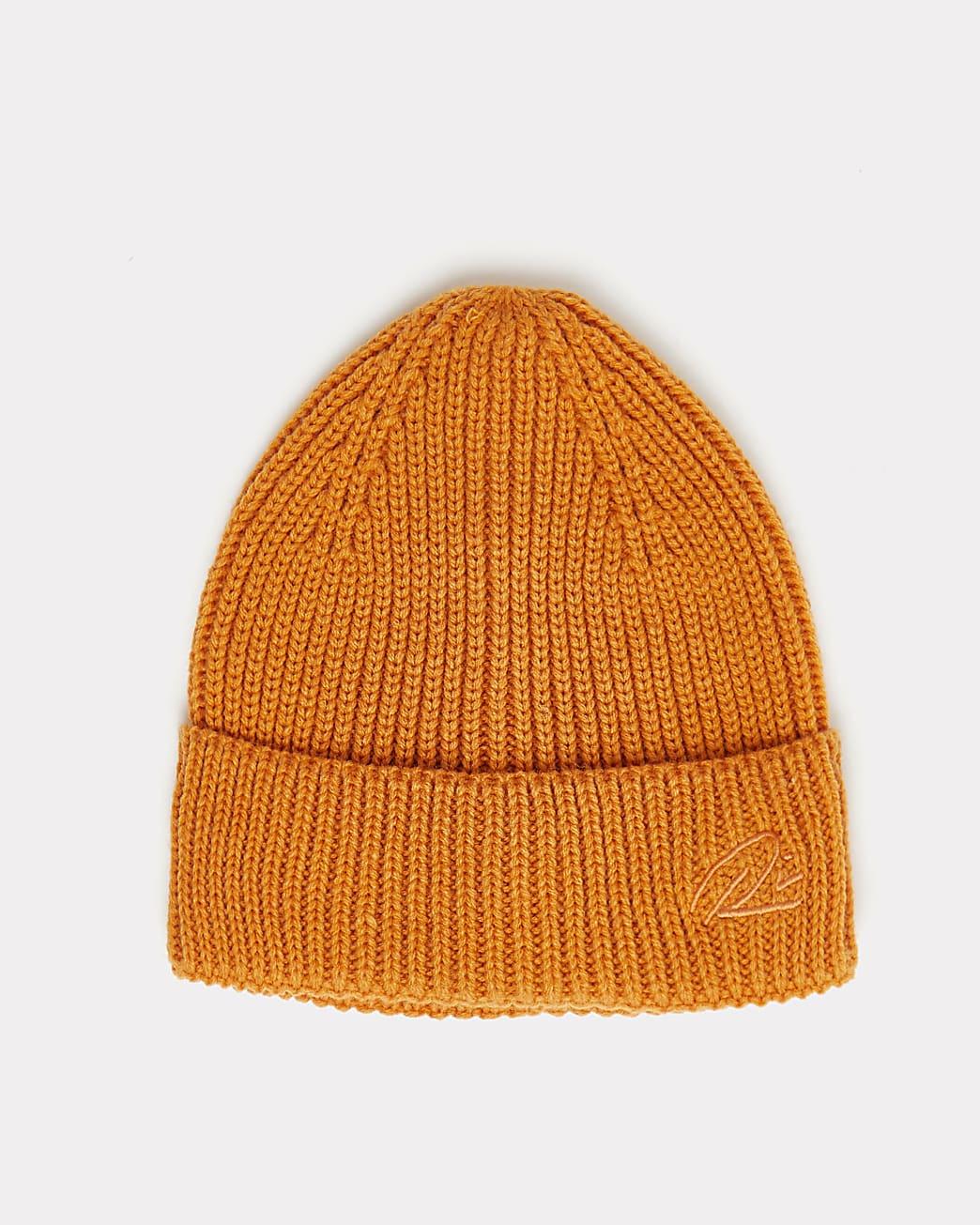 Orange RI branded docker beanie hat
