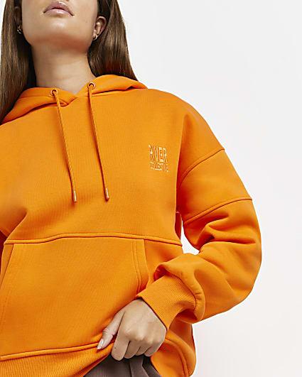 Orange RI branded hoodie
