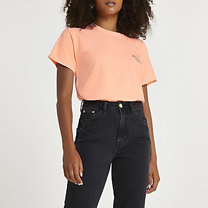 Orange 'RI LDN' t-shirt