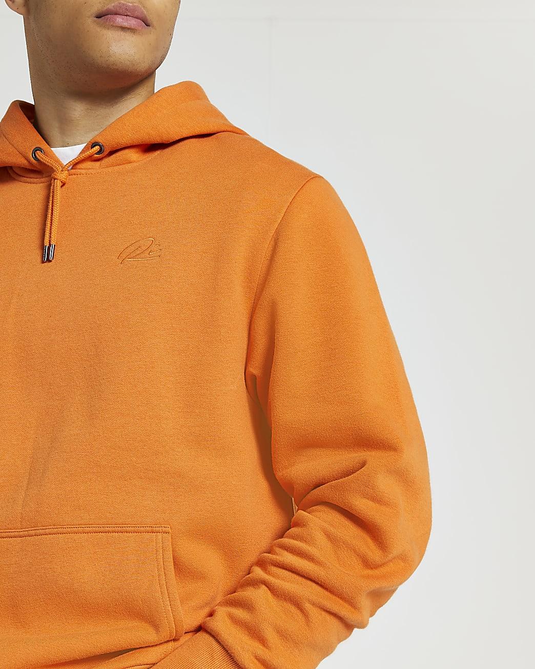 Orange RI regular fit hoodie