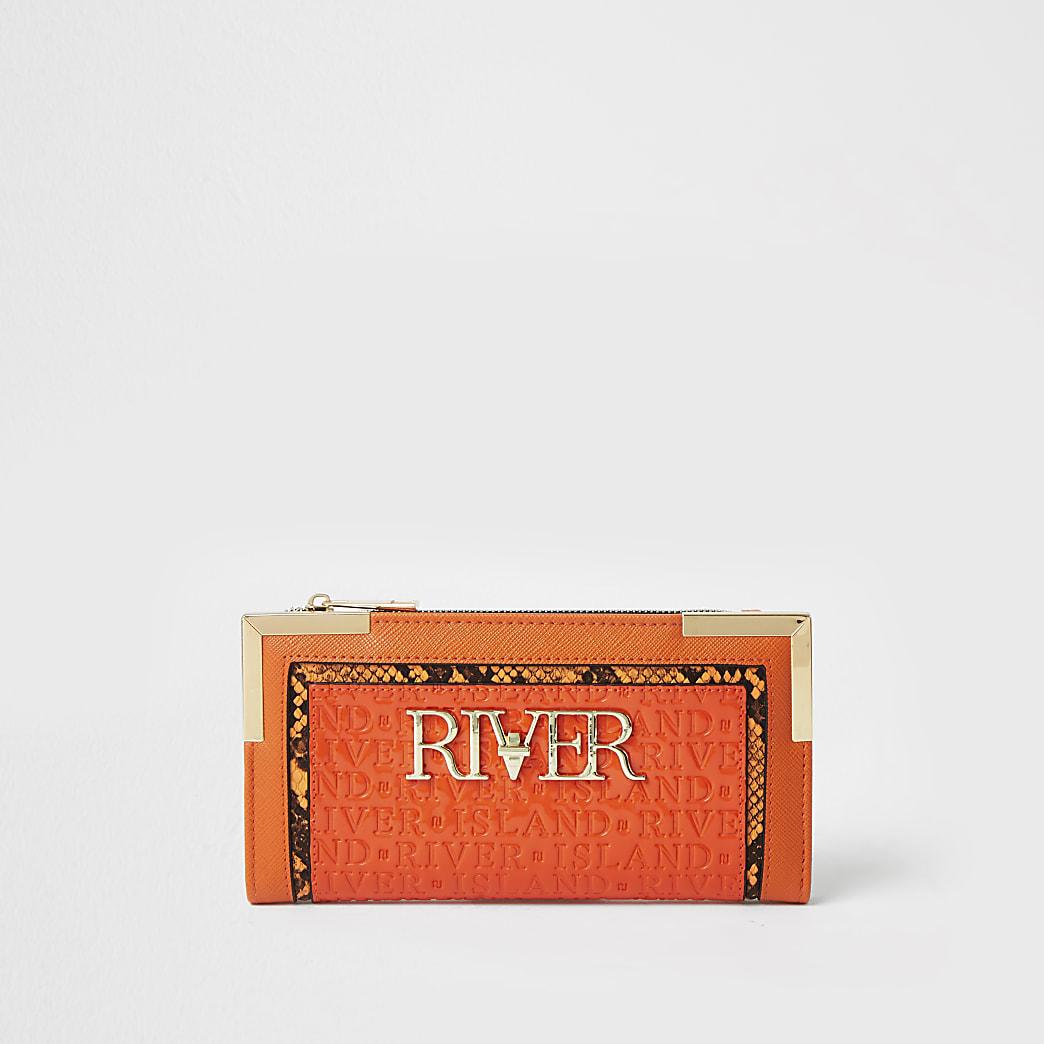 Orange river embossed purse