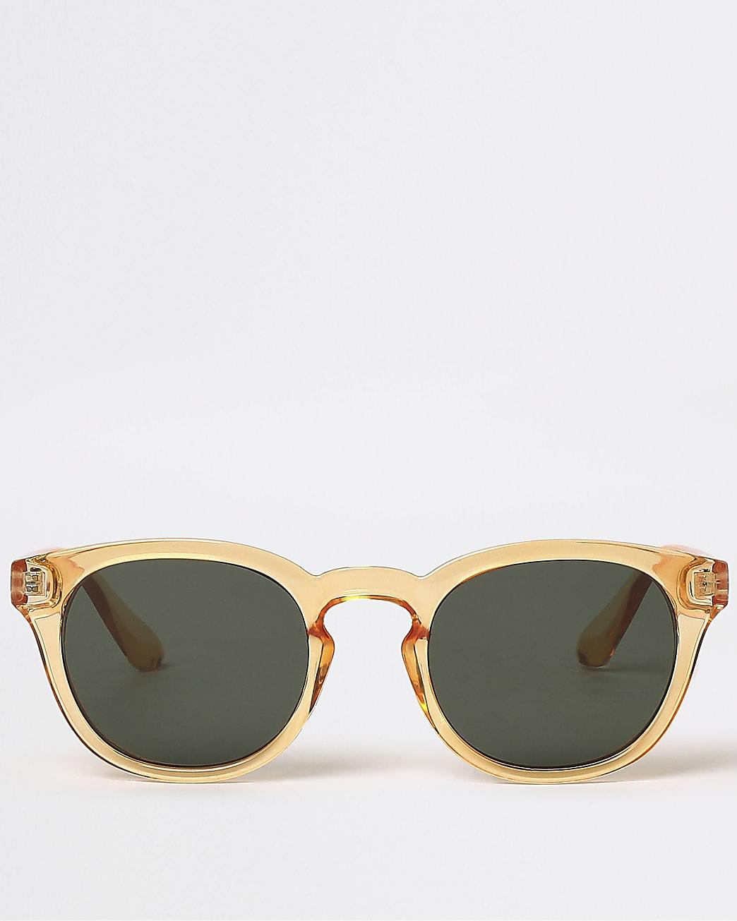 Orange round frame sunglasses