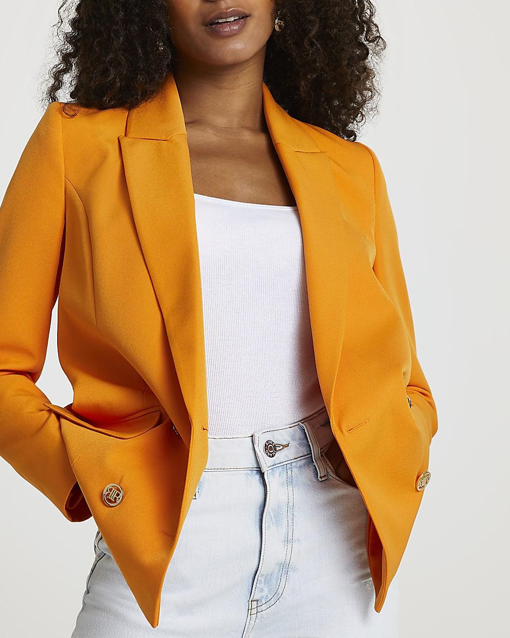 Orange structured blazer