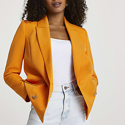 Orange structured blazer