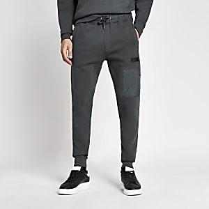 Pastel Tech – Pantalon de jogging en nylon colour block gris