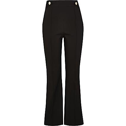 Petite black bootcut trousers