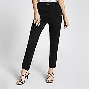 Petite black cigarette trousers